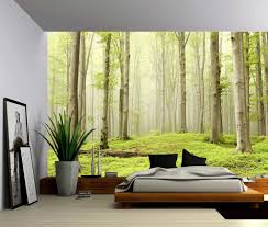 peel and stick vinyl wallpaper landscape foggy spring forest self adhesive vinyl wallpaper peel