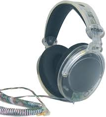 koss cl 80 clear stereo headphones with large ear cushions full