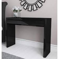 black sofa table with drawers lexi black high gloss console table furniture123