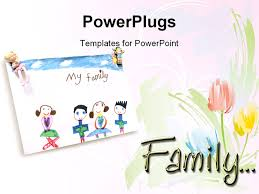 free powerpoint templates family download hands with paper chain