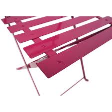 Patio Furniture Bistro Set - bentley garden metal bistro set pink u0026 silver
