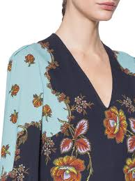 Floral Prints by New Arrivals Woman Flared Dress With Floral Prints Etro