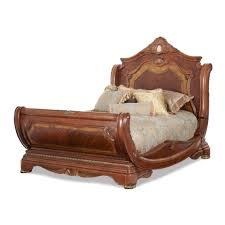 Furniture By Michael Amini Aico Michael Amini 3pc Cortina Queen Size Sleigh Bedroom Set In