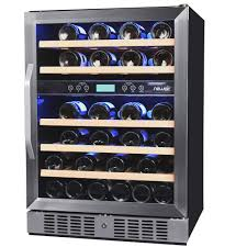 newair dual zone 46 bottle built in compressor wine cooler awr