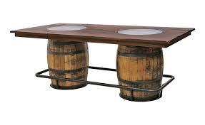 whiskey barrel bar table whiskey double barrel table dutch craft furniture
