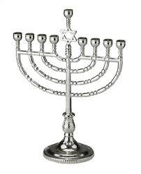 hanukkah menorah traditional hanukkah menorah polished silvertone yourholylandstore