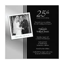 Silver Anniversary Invitation Cards Anniversary Invitations Personalize Now