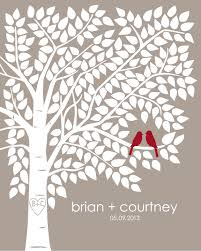 guest book tree personalized wedding print 16x20 220