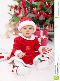 santa claus costume for toddlers pretty baby in santa costume sitting royalty free stock