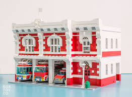 Fire Station Floor Plans by Bricktoyco Custom Classic Style Lego Fire Station Modularwith 3