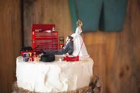 mechanic wedding cake topper wedding cake topper with mechanic groom editorial stock