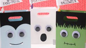 halloween goody bags how to make halloween monster treat bags youtube