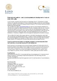 postdoc position in lund