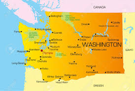 Picture Of Map Of Washington by Vector Color Map Of Washington State Usa Royalty Free Cliparts