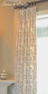 Newell Curtain Rods by Easy No Sew Drop Cloth Curtains With Pleats U2013 Lemons To Lovelys