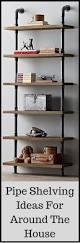 best 25 pipe shelves ideas on pinterest industrial shelving