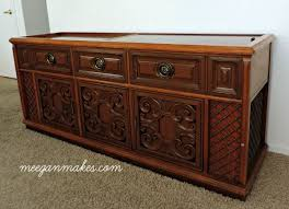 Homemade Stereo Cabinet How To Makeover A 1970s Stereo What Meegan Makes