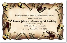 bare bones pirate birthday invitation