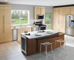 perfect maple kitchen cabinets contemporary with black appliances