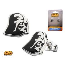 wars earrings stainless steel darth vader enamel stud earrings