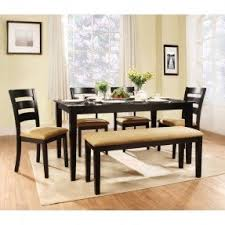 rectangle dining table with bench foter