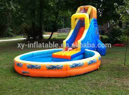 Water Slide Backyard by Backyard Inflatable Water Slides With Pool Swimming Pool Slide