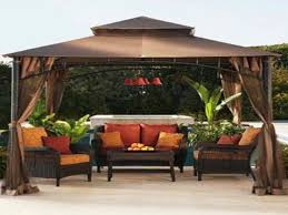 Outdoor Decoration by Deck Wicker Lowes Lawn Chairs Set With Gazebo For Outdoor