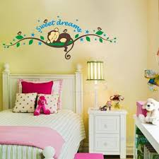 bedroom lovely monkey bedroom decor for kid with white bed and