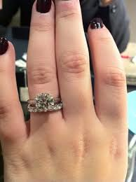 eternity ring finger at last my fiance s 2 70ct mege solitaire ring