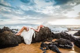 trash the dress trash the dress on the beach maui wedding photographer penny