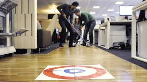 staples winter office games chair curling youtube