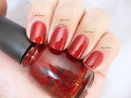comparison sinful colors ruby glisten vs china glaze ruby pumps