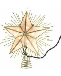 lighted capiz star tree topper amazing deal on led 5 point capiz star christmas tree topper with