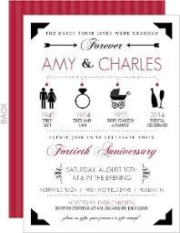 40th anniversary invitations cheap 40th anniversary invitations invite shop