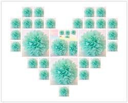 mint green tissue paper 30pcs lot wedding decorative flowers 25cm 10 inch mint green