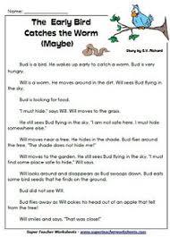 reading comprehension stories on superteacherworksheets com