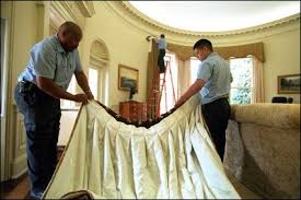 oval office curtains behind the scenes