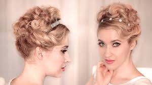 Long Hairstyles Easy Updos by Cute Easy Curly Updo For Wedding Prom Hairstyle For Medium