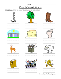 vowel worksheets have fun teaching
