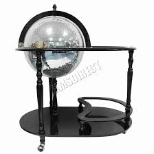 Globe Drinks Cabinet Foxhunter Globe Shaped Mini Bar Trolley With Table Drinks Cabinet