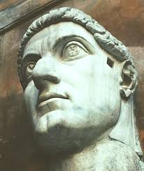 statue with images of the colossal statue of constantine rome 315 220 ce