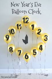 New Years Eve Decorations Ideas Diy by New Year U0027s Eve Balloon Clock Countdown Decoration Nye Party