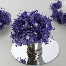 purple corsage 72 pack faux pearl decor purple flower braids corsage boutonniere