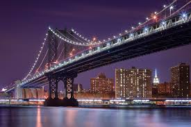 manhattan bridge bustling new york city pinterest cityscapes