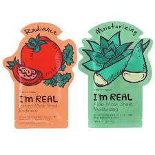 tonymoly u0027s u0027i u0027m real u0027 sheet masks 11 pack amazon co uk beauty