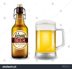 beer vector realistic beer bottle glass beer vector stock vector 576618826