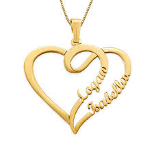 couples heart pendant necklace images Couple heart necklace in 14k gold yours truly collection jpg