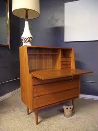 Wood Secretary Desk by Home Office Contemporary Secretary Desk In Wood Lacquered Vintage