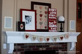 Easy Valentine S Day Decor by Valentine U0027s Day Mantel Landeelu Com