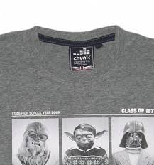 class of 77 wars shirt grey marl class of 77 wars t shirt from chunk